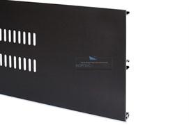 Решётка вентиляционная для цоколя H.150, L=600мм, отделка черный шлифованный