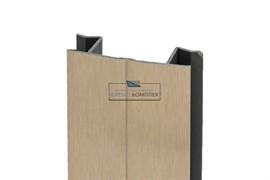 A20 Угол универсальный Н.100 для цоколя ПВХ, золото шлифованное
