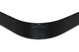 ГП. 22 Закругление универсальное для цоколя ПВХ Н.150, черный глянец