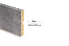 0217 Цоколь ПВХ H.100, L=4000, бетон светло-серый