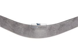 ГП. 0217 Закругление универсальное для цоколя ПВХ Н.120, бетон светло-серый