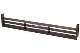 Вентиляционная решётка для цоколя, цвет темно-коричневый