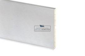 0037 Цоколь ПВХ H.100, L=4000, под шлифованный алюминий