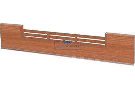 2900 Решётка вентиляционная для цоколя ПВХ H.150, L=600, вишня красная