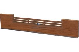 1856 Решётка вентиляционная для цоколя ПВХ H.120, L=600, вишня стандартная