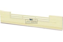 1366 Решётка вентиляционная для цоколя ПВХ H.120, L=600, сосна