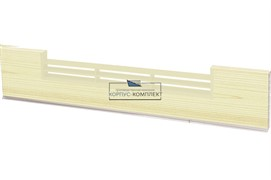 1366 Решётка вентиляционная для цоколя ПВХ H.100, L=600, сосна