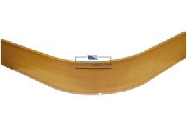 0125 Закругление для цоколя ПВХ Н.100, ольха Ника