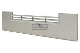 0100 Решётка вентиляционная для цоколя ПВХ H.150, L=600, под рифлёный алюминий