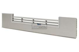 0100 Решётка вентиляционная для цоколя ПВХ H.120, L=600, под рифлёный алюминий