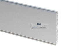 13 Цоколь ПВХ H.100, L=4000, шлифованный алюминий
