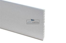 13 Цоколь ПВХ H.150, L=4000, шлифованный алюминий