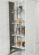 S-1510-С (S-1510) Шкаф-колонна Starax 3-х.ярусная, шир. 450 (380х510х850-1100), деревянные полки с ПВХ