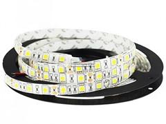 Лента FLASH 5630, 300 LED теплый белый, 80W без силикона, 10мм, катушка 5м