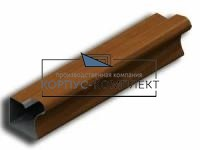 Ручка вертикальная для шкафа-купе 16 мм 2,75м (махагон) <20>