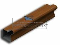 Ручка вертикальная для шкафа-купе 16 мм 2,75м (орех) <20>