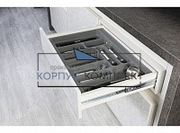S-2290-G (S-2290) Лоток для столовых приборов Starax в базу шир. 900 (840x490x55) серый &