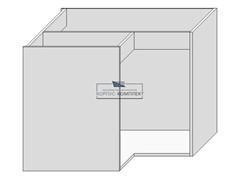 Корпус под мойку (угловая 900х900) на 2  двери