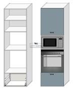 Корпус под духовку и СВЧ 2080*600*560 мм. Тип 11