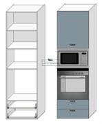 Корпус под духовку и СВЧ 2080*600*560 мм. Тип 12