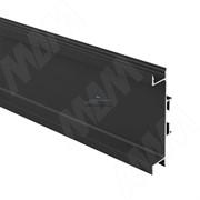 GOLIGHT Универсальная профиль-ручка для среднего ящика, под светодиодную ленту, черный матовый, L-4100мм