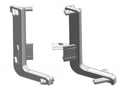 Комплект угловых элементов 90° (внешний+внутренний) верхнего профиля GOLA Alphalux , пластик, серый