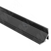 Профиль СМ2, угловой, черный, 16х16мм, для овального рассеивателя, L-2000
