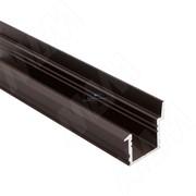 Профиль FM6, врезной со шторкой, темно-коричневый, 20х19мм, L-2000