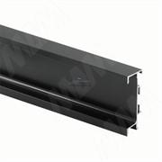 GOLIGHT Универсальная профиль-ручка под столешницу, под светодиодную ленту, черный матовый (краска), L-4100мм